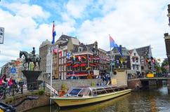 Piękny miasto Amsterdam obrazy stock
