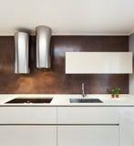Piękny mieszkanie meblujący, kuchnia Zdjęcia Royalty Free