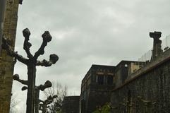 Piękny Militarny budynek W Warownym miasteczku Getaria Architektura wieków średnich podróż Fotografia Stock