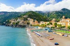 Piękny Minori miasteczko na Amalfi wybrzeżu, Campania, Włochy zdjęcie stock