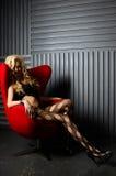 Piękny model, wewnętrzny studio Zdjęcie Royalty Free