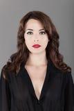 Piękny modnej kobiety portret Zdjęcia Stock