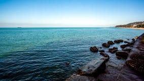Piękny morze krajobraz w Ajaria, Gruzja Widok na Batumi mieście Obrazy Stock