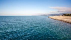Piękny morze krajobraz w Ajaria, Gruzja Widok na Batumi mieście Zdjęcia Royalty Free