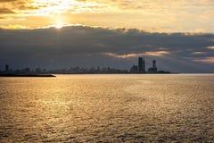 Piękny morze krajobraz w Ajaria, Gruzja Widok na Batumi mieście Zdjęcie Royalty Free