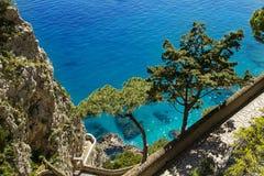 Piękny morze w Capri, Włochy - Zdjęcie Royalty Free