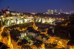 piękny mostów miasta Luxembourg świat Obrazy Royalty Free