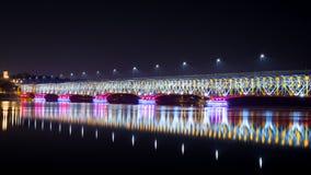 Piękny most przy nocą Obrazy Stock