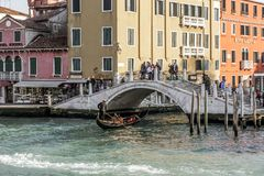 Piękny most w Wenecja, Włochy Obraz Stock