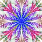 Piękny multicolor fractal kwiat. Kolekcja - mroźny wzór royalty ilustracja