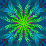 Piękny multicolor fractal kwiat Kolekcja - mroźny wzór ilustracja wektor