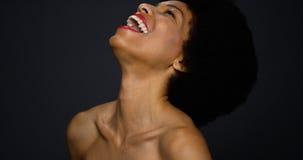 Piękny murzynki śmiać się Obrazy Stock