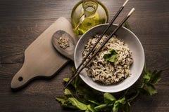 Piękny naczynie quinoa ryżowy japoński styl obraz royalty free
