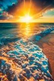 piękny nad dennym wschód słońca obrazy royalty free