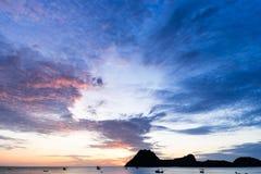 piękny nad dennym wschód słońca Obraz Stock