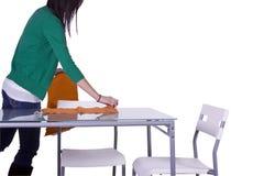 piękny narządzania stołu nastolatek Obraz Royalty Free