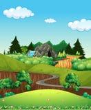 Piękny natura krajobraz ilustracji