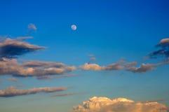 piękny niebieski księżyc w pełni niebo obraz stock