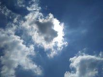 piękny niebo Z światło słoneczne naturalną fotografią zdjęcia stock