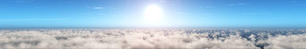 Piękny niebo z chmurami i słońcem fotografia stock
