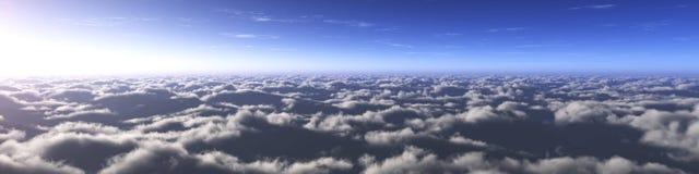 Piękny niebo z chmurami i słońcem zdjęcia royalty free
