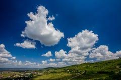 Piękny niebo z chmurami w popołudniu Zdjęcia Royalty Free