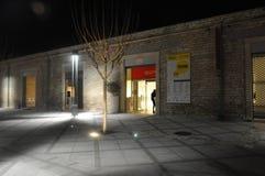 Piękny noc placu Limassol kasztel w Cypr fotografia stock