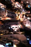 Piękny noc widok Oia, Santorini, Grecja fotografia royalty free