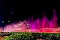Piękny noc widok Tiananmen, Chiny obraz stock