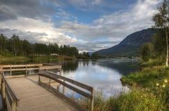 Piękny norweski wieczór zdjęcie stock
