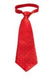 Piękny nowożytny czerwony krawat Fotografia Royalty Free