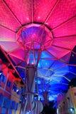 Piękny oświetlenie przy Clarke Quay Zdjęcia Royalty Free