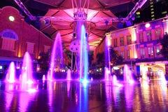 Piękny oświetlenie przy Clarke Quay Fotografia Stock
