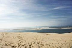 Piękny obrazek wysoki sanddune Europe z sunse fotografia royalty free