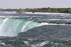 Piękny obrazek zadziwiający Niagara spada kanadyjczyk strona fotografia royalty free