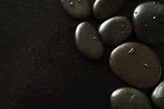 Piękny obrazek zdrojów Gorący kamienie, widok od Above Ciemny backg Obrazy Royalty Free