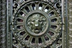 Piękny obsady żelaza lwa głowy projekt Obrazy Stock