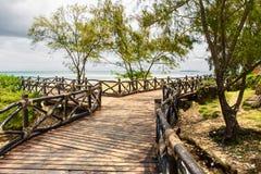Piękny oceanu krajobraz na wyspy więzieniu, Zanzibar, Tanzania zdjęcia stock