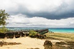 Piękny oceanu krajobrazu wyspy więzienie, Zanzibar, Tanzania obraz stock