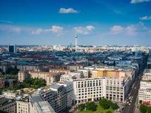 Piękny odgórny widok linia horyzontu Berlin zdjęcie stock