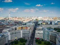 Piękny odgórny widok linia horyzontu Berlin obraz royalty free