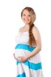 piękny odosobnienia portreta kobieta w ciąży Zdjęcia Royalty Free