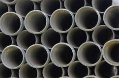 Piękny okręgu wzór betonowi culverts Zdjęcie Stock