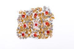 Piękny ornament gemstone na białym tle Zdjęcia Stock