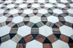 Piękny ornamentacyjny marmurowy podłogowy tło w azjatykciej świątyni, India Fotografia Royalty Free