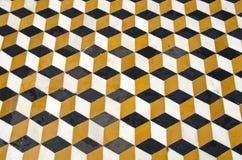 Piękny ornamentacyjny marmurowy podłogowy tło w azjatykciej świątyni, India Zdjęcia Stock