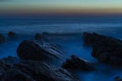 Piękny półmrok przy Adriatyckim morzem w Chorwacja zdjęcia royalty free