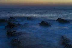 Piękny półmrok przy Adriatyckim morzem w Chorwacja obraz stock