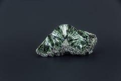Piękny półszlachetny kamień na czarnym tle Obraz Royalty Free
