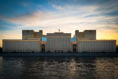 Piękny pałac przy zmierzchem zdjęcie royalty free